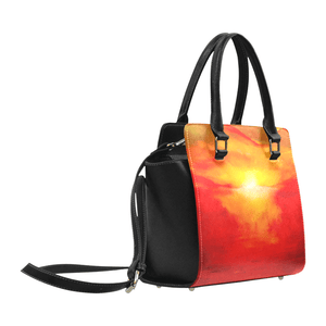 Orange Sunset Magic Classic Handbag Top Handle | JSFA - JSFA - Original Art On Fashion by Jenny Simon