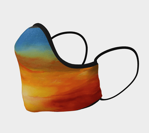 Orange Sunset Magic Face Mask - JSFA - Original Art On Fashion by Jenny Simon