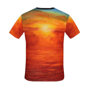 Orange Sunset Men's T-Shirt | JSFA - JSFA - Original Art On Fashion by Jenny Simon