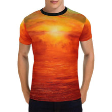 Load image into Gallery viewer, Orange Sunset Men's T-Shirt | JSFA - JSFA - Original Art On Fashion by Jenny Simon