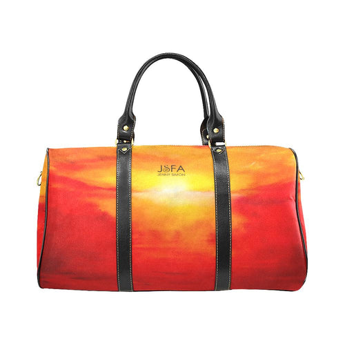 Orange Suset Magic Travel Bag | JSFA - JSFA - Original Art On Fashion by Jenny Simon