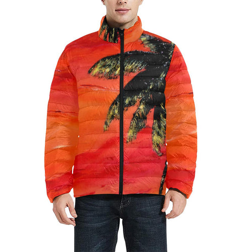 Palm Tree Orange Men's Bomber Jacket | JSFA - JSFA - Original Art On Fashion by Jenny Simon