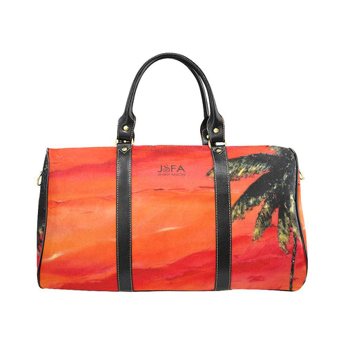 Palm Tree Orange Sky Travel Bag | JSFA - JSFA - Original Art On Fashion by Jenny Simon