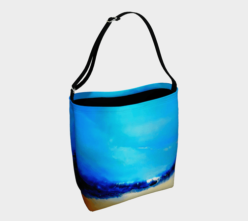 Rebirth Blue Shopper | JSFA - JSFA - Original Art On Fashion by Jenny Simon