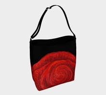 Load image into Gallery viewer, Red Rose Bud Shopper | JSFA - JSFA - Original Art On Fashion by Jenny Simon