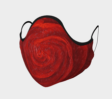 Load image into Gallery viewer, Red Rose Facial Mask - JSFA - Original Art On Fashion by Jenny Simon