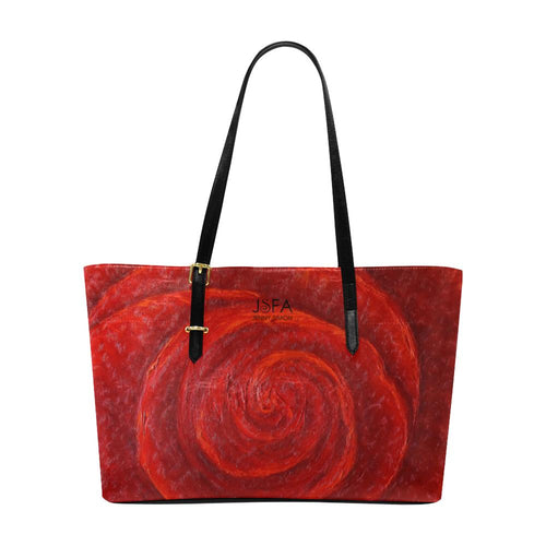 Red Rose Large Tote Bag | JSFA - JSFA - Original Art On Fashion by Jenny Simon