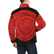 Load image into Gallery viewer, Red Rose Men's Bomber Jacket | JSFA - JSFA - Original Art On Fashion by Jenny Simon