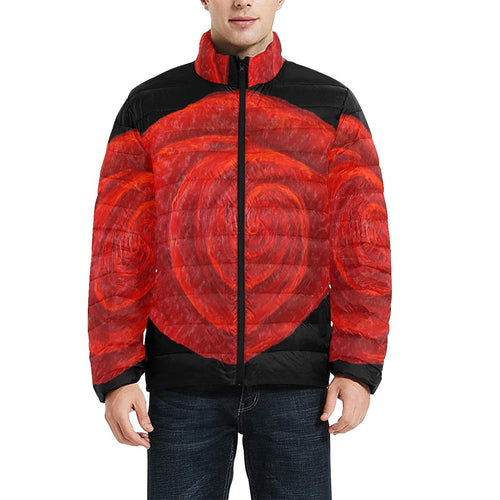 Red Rose Men's Bomber Jacket | JSFA - JSFA - Original Art On Fashion by Jenny Simon