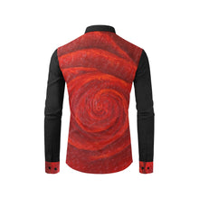 Load image into Gallery viewer, Red Roses Long Sleeve Men's Shirt | JSFA - JSFA - Original Art On Fashion by Jenny Simon
