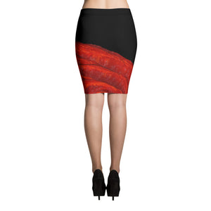 sexy red rose and black pencil skirt art on fashion jsfa