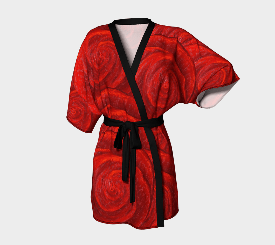 Rose Bud Kimono Robe | JSFA - JSFA - Original Art On Fashion by Jenny Simon