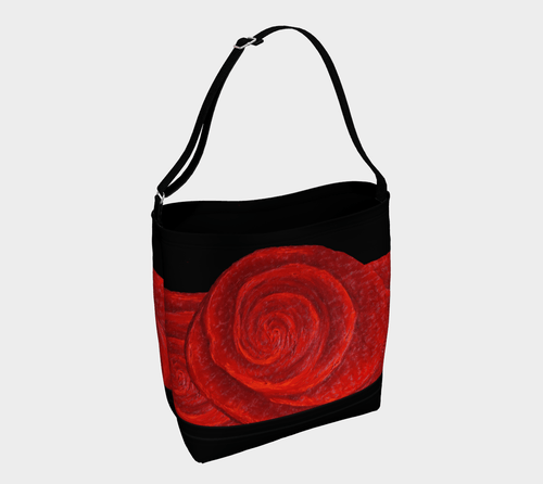 Rose Bud Shopper | JSFA - JSFA - Original Art On Fashion by Jenny Simon