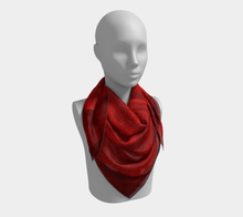Load image into Gallery viewer, Single Red Rose Square Scarf by JSFA - JSFA - Original Art On Fashion by Jenny Simon