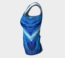 Load image into Gallery viewer, Spellbound Blue Long Tank | JSFA - JSFA - Original Art On Fashion by Jenny Simon