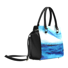 Load image into Gallery viewer, Spellbound Blue White Ocean Classic Handbag Top Handle | JSFA - JSFA - Original Art On Fashion by Jenny Simon