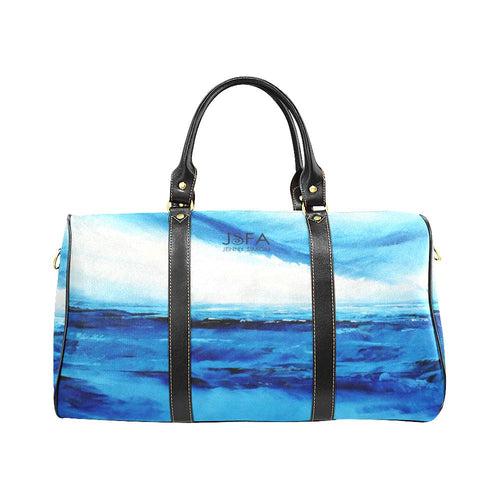 Spellbound Blue White Water Travel Bag | JSFA - JSFA - Original Art On Fashion by Jenny Simon