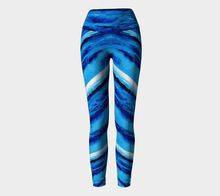 Load image into Gallery viewer, Spellbound Blue Yoga Pants | JSFA - JSFA - Original Art On Fashion by Jenny Simon