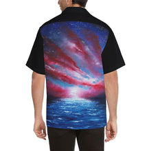 Load image into Gallery viewer, Stars And Stripes Blue Red Hawaiian Shirt Black Sleeves | JSFA - JSFA - Original Art On Fashion by Jenny Simon