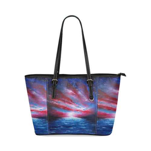 Stars And Stripes Leather Tote Bag | JSFA - JSFA - Original Art On Fashion by Jenny Simon