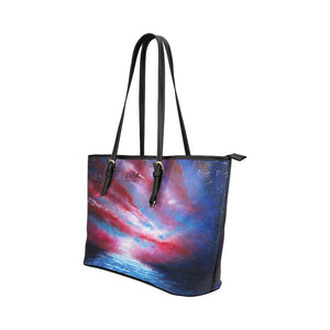 Stars And Stripes Medium Zipper Leather Tote Bag | JSFA - JSFA - Original Art On Fashion by Jenny Simon