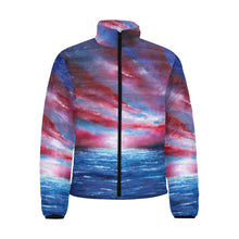 Load image into Gallery viewer, Stars And Stripes Men's Bomber Jacket | JSFA - JSFA - Original Art On Fashion by Jenny Simon