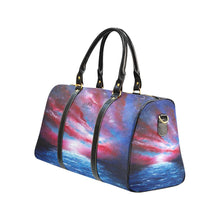 Load image into Gallery viewer, Stars And Stripes - Red, White, Blue Travel Bag | JSFA - JSFA - Original Art On Fashion by Jenny Simon