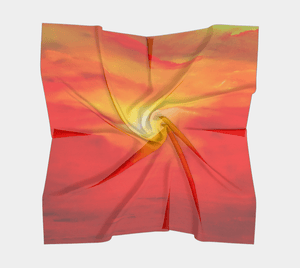 Sunset Magic Square Scarf by JSFA - JSFA - Original Art On Fashion by Jenny Simon