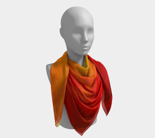 Load image into Gallery viewer, Sunset Magic Square Scarf by JSFA - JSFA - Original Art On Fashion by Jenny Simon