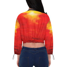 Load image into Gallery viewer, Sunset Magic Women's Chiffon Cropped Jacket | JSFA - JSFA - Original Art On Fashion by Jenny Simon