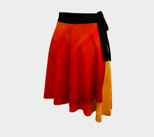 Load image into Gallery viewer, Sunset Magic Wrap Skirt | JSFA - JSFA - Original Art On Fashion by Jenny Simon