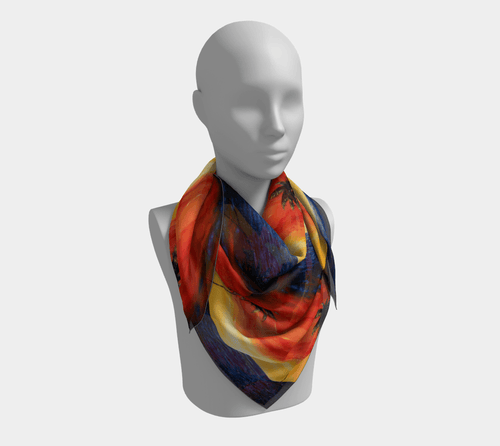 Twin Palms Square Scarf | JSFA - JSFA - Original Art On Fashion by Jenny Simon