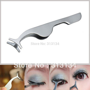 False Eyelashes curler Extension Tweezers Clip