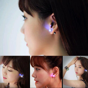 LED Crystal Stainless Steel Stud Earrings