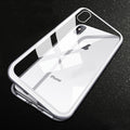 For iPhone X 8 7 Case Transparent Mirror Tempered Glass Magnetic adsorption