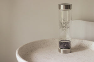 Crystal Infuser Amethyst Water Bottle