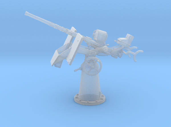 1/96 20mm Oerlikon Mk4 w/ MK14 Gun Sight Elevated 3d printed