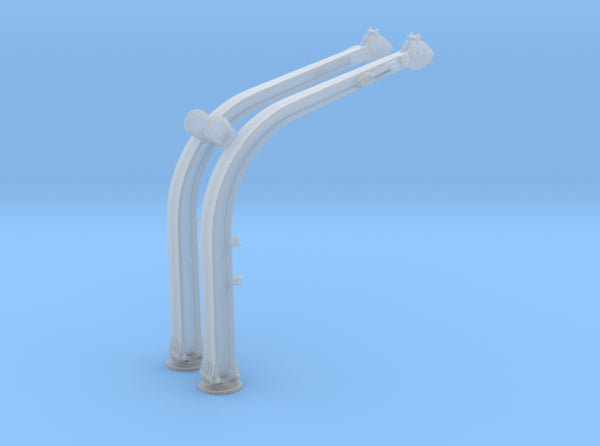 1/100 DKM Davits for Boat Long 8m 3d printed