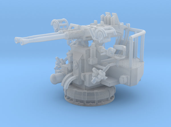 1/96 USN 40mm Bofors Twin Mount 3d printed