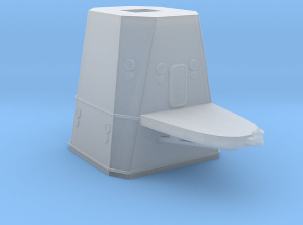 1/192 DKM Graf Spee Tower part1 3d printed