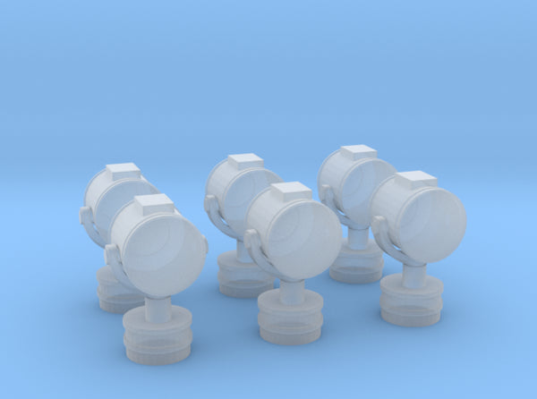 1/72 Searchlight small Greek Cruiser Set x6 3d printed