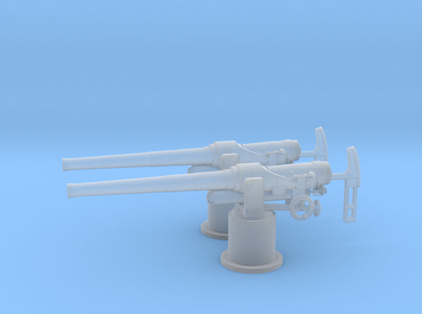 1/72 RN QF 12-pounder (76.2 mm) gun Set x2 3d printed