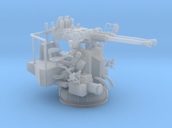 1/450 USN 40mm Bofors Twin Mount 3d printed