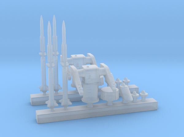 1/400 MK10 Terrier Missile Launcher KIT x2 3d printed