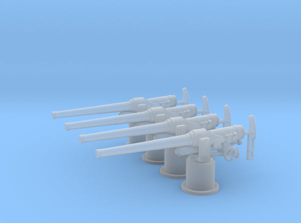1/72 RN QF 12-pounder (76.2 mm) gun Set x4 3d printed