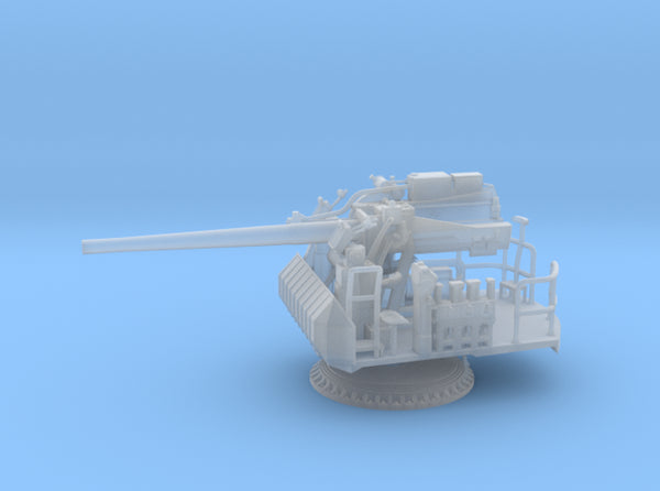 1/96 USN Single 5 inch (127 mm) 38 caliber gun 3d printed