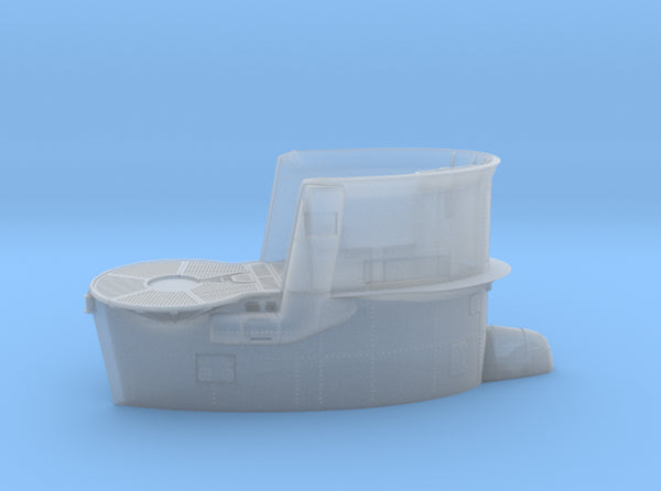 1/72 DKM Uboot VIIB Conning Tower 3d printed