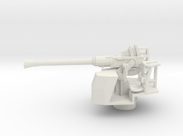 1/72 RN Single 40mm Bofors AA Gun 3d printed