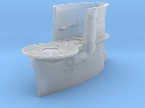 1/144 DKM Uboot VIIB Conning Tower 3d printed