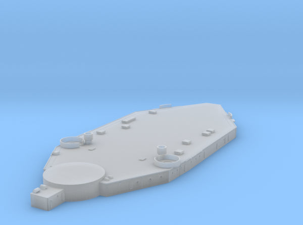 1/700 US South Dakota Superstructure 1 3d printed